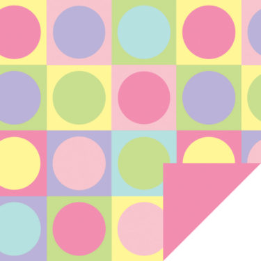 Colure Pastel Flip Sheet w/Pink Back