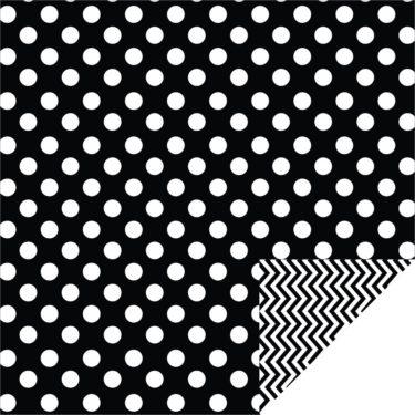Home Décor Chevron Large Dots Black