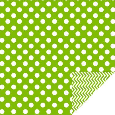 Home Décor Chevron Large Dots Green
