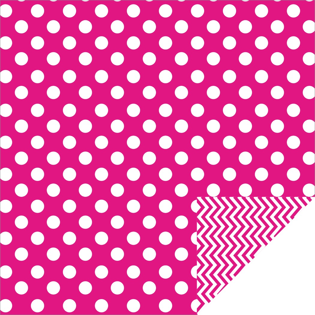 Home Décor Chevron Large Dots Hot Pink