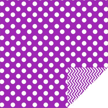 Home Décor Chevron Large Dots Purple