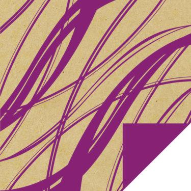 Heat- Purple on Craft Paper w/Purple Back
