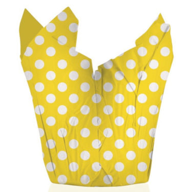 Large Dots Yellow Pot Cover