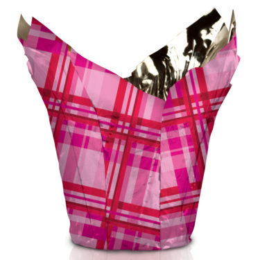 Mad About Plaid Valentine Pot Cover