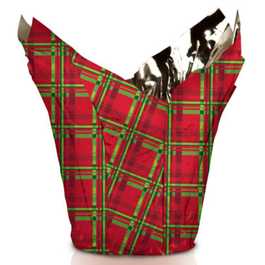 Mad About Plaid Christmas Pot Cover