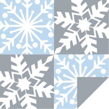 Snowfall FlipSheet- Blue/Sliver/White