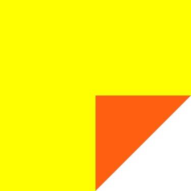 Solid Flip Sheets- Orange/Yellow